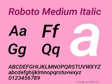 Roboto Medium Italic Version 2.135图片样张