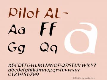 Pilot AL- 001.000 Font Sample