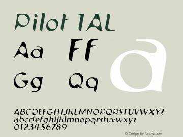 Pilot 1AL 001.000 Font Sample