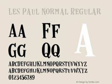 Les Paul Normal Regular Version 1.000;PS 001.000;hotconv 1.0.70;makeotf.lib2.5.58329 DEVELOPMENT图片样张