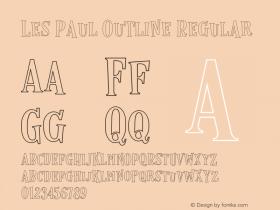 Les Paul Outline Regular Version 1.000;PS 001.000;hotconv 1.0.70;makeotf.lib2.5.58329 DEVELOPMENT图片样张
