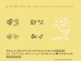 Traditional Floral Design III Regular Macromedia Fontographer 4.1 2000-07-06图片样张