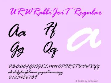 URWRabbiJoiT Regular Version 001.005图片样张