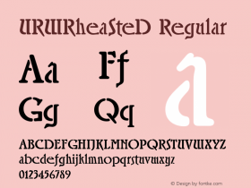URWRheaSteD Regular Version 001.005 Font Sample
