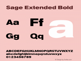 Sage Extended Bold July 7, 1992; 1.01 Font Sample
