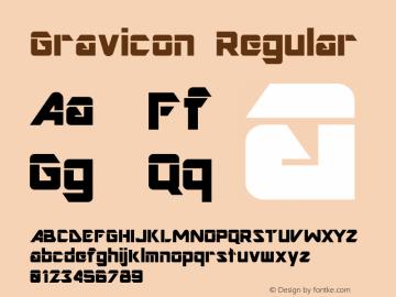 Gravicon Regular Altsys Fontographer 3.5  6/5/93 Font Sample