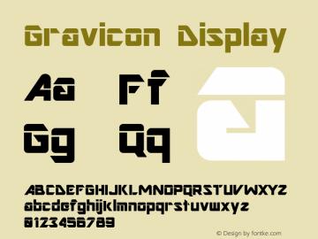 Gravicon Display Altsys Fontographer 4.0.3 03.06.1994图片样张