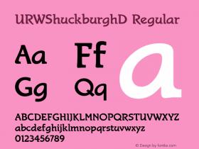 URWShuckburghD Regular Version 001.005图片样张