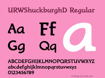 URWShuckburghD Regular Version 001.005 Font Sample