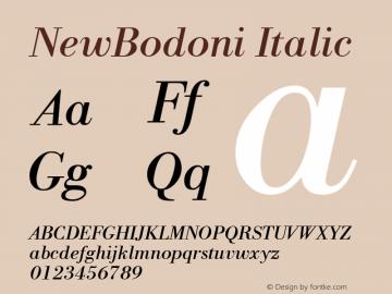NewBodoni Italic 1.0 Thu Jul 07 10:48:14 1994 Font Sample