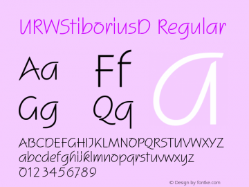 URWStiboriusD Regular Version 001.005 Font Sample