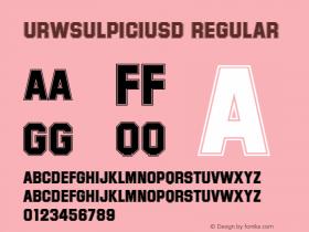 URWSulpiciusD Regular Version 001.005 Font Sample
