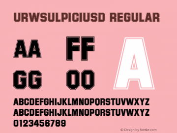 URWSulpiciusD Regular Version 001.005 Font Sample