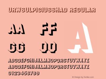 URWSulpiciusShaD Regular Version 001.005 Font Sample