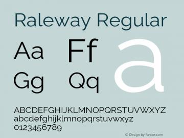 Raleway Regular Version 4.010 Font Sample