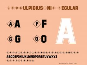URWSulpiciusIniD Regular Version 001.005图片样张
