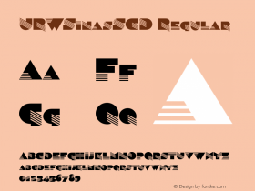 URWSinasSCD Regular Version 001.005 Font Sample