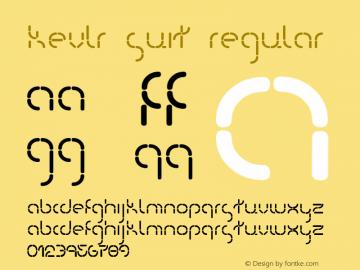 Kevlr Suit Regular Macromedia Fontographer 4.1 7/7/00 Font Sample