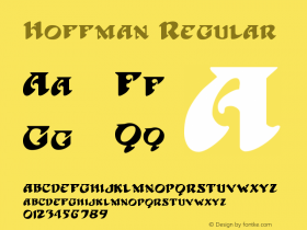 Hoffman Regular Altsys Fontographer 3.5  4/2/93 Font Sample