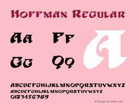 Hoffman Regular 1.01 Font Sample