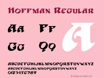 Hoffman Regular 1.01 Font Sample
