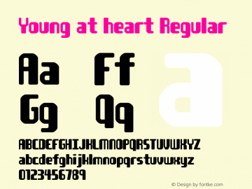 Young at heart Regular © Jakob Fischer / PizzaDude [distribute freely] Font Sample