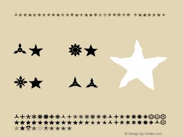AltemusStarsThreeW95-T_R_ Regular Version 4.10 Font Sample