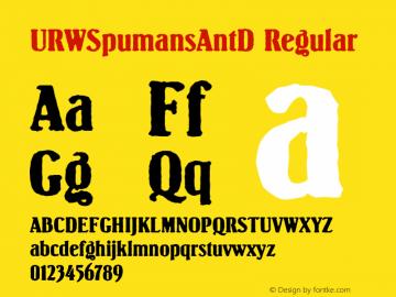 URWSpumansAntD Regular Version 001.005图片样张