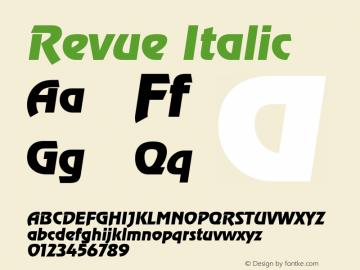 Revue Italic 1.0 Sat May 29 17:55:14 1993 Font Sample