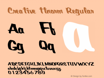 Creative ttnorm Regular Altsys Metamorphosis:10/27/94 Font Sample