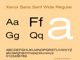 Xerox Sans Serif Wide Regular 1.1图片样张