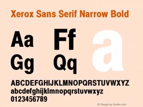Xerox Sans Serif Narrow Bold 1.1 Font Sample