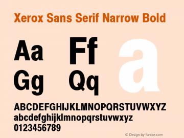 Xerox Sans Serif Narrow Bold 1.1图片样张