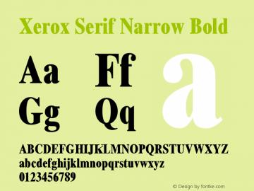 Xerox Serif Narrow Bold 1.1图片样张