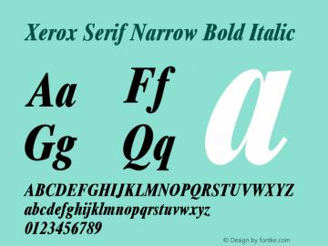 Xerox Serif Narrow Bold Italic 1.1图片样张