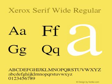 Xerox Serif Wide Regular 1.1图片样张