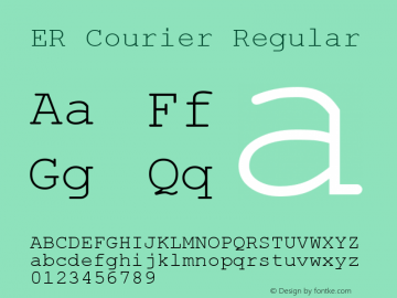 ER Courier Regular 1.0 Fri Jan 29 15:21:09 1993 Font Sample