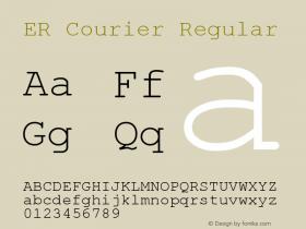 ER Courier Regular 2.01 Wed Jan 26 1994 Font Sample