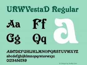 URWVestaD Regular Version 001.005 Font Sample
