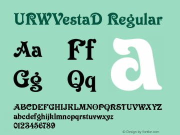 URWVestaD Regular Version 001.005 Font Sample