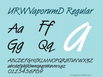 URWVaporumD Regular Version 001.005 Font Sample