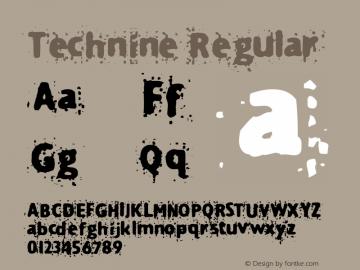 Technine Regular Macromedia Fontographer 4.1.2 7/7/97图片样张