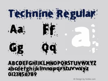 Technine Regular Macromedia Fontographer 4.1.2 12/7/97图片样张