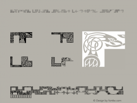 c0SMic Celtic Design Corners Regular 7/7/98 Font Sample