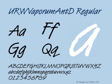 URWVaporumAntD Regular Version 001.005 Font Sample