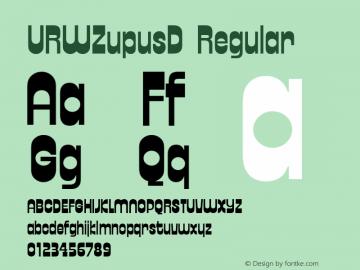 URWZupusD Regular Version 001.005 Font Sample