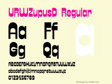 URWZupusD Regular Version 1.05 Font Sample
