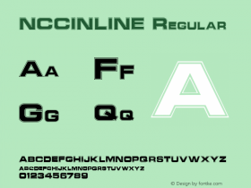 NCCINLINE Regular Altsys Fontographer 3.5  7/7/92 Font Sample
