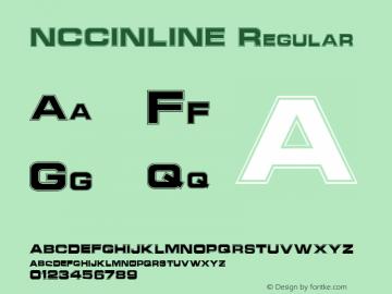 NCCINLINE Regular Altsys Fontographer 3.5  7/7/92 Font Sample