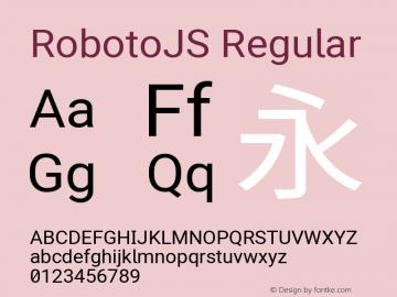 RobotoJS Regular Version 2.05; 2016-11-05 ; ttfautohint (v1.5)图片样张